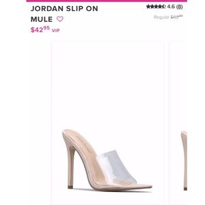 Shoes - Clear Top Heels